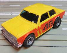 Faller Aurora -- Datsun Bre 510 mit AFX Chassis, + 2 neue Schleifer/Hinterreifen