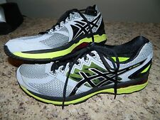 Men's Asics Gray Dynamic Duomax Running Tennis Shoes Size 12.5