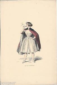 Le-Rat-D-039-Opera-GAVARNI-Gravure-Bois-Aquarelle-1840-Francais-Peints-par-Eux-Meme