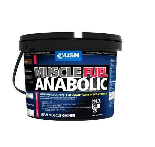 USN Muscle Muscle USN Fuel Anabolic Lean Muscle Gain Shake Powder, Strawberry - 4 kg, 4 kg e65628