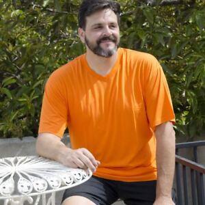 Big Boy Bamboo Tall Men s Bamboo V-Neck T-Shirt - Sizes 1XLT-4XLT  364db2c038fb