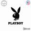 Sticker Lapin Playboy Decal Aufkleber Pegatinas D-317 Couleurs au choix