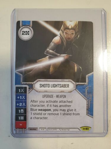 Details about  /Star Wars Destiny Card Shoto Lightsaber No 51 With DICE