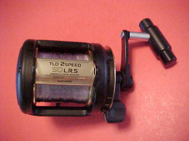 SHIMANO TLD50 L.R.S. 2 SPEED LEVER DRAG FISHING REEL WITH T-BAR HANDLE ((o))