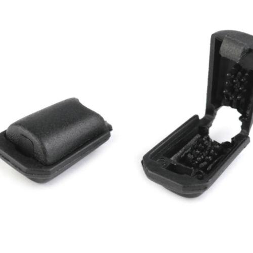 Kordelstopper Kordelende 10-25-100 Kordelendstücke Click-System 11x16mm