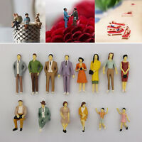 1 pc HO scale 1:87 ABS Painted People / seated passenger Random Figures