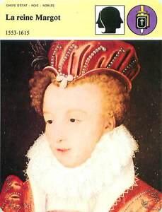"""FICHE CARD Marguerite de France/de Valois la reine Margot 1553-1615 France 90s - France - PORT EUROPE GRATUIT A PARTIR DE 4 OBJETSBUY 4 ITEMS AND EUROPE SHIPPING IS FREE FICHE FRANCE ANNEES 90s ETAT VOIR PHOTO FORMAT 16 CM X 12 CM SIZE : 6.29 """" X 4.72 """" inch FICHE SCOLAIRE .10 - France"""
