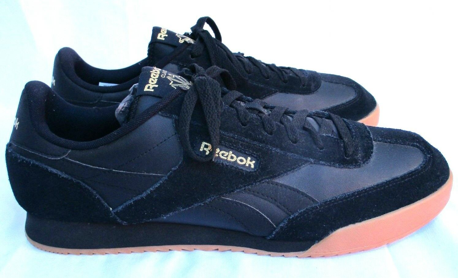 REEBOK..CLASSIC..BLACK..SUEDE LEATHER..SHOES   SNEAKERS..sz 10.5