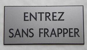 """Plaque Gravée """"entrez Sans Frapper"""" (2 Versions) Petit Format Tiwspzn0-07233716-111341855"""