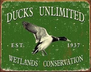 Ducks Unlimited Est 1937 Retro Tin Sign Metal Poster Ebay