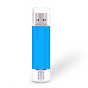 2TB 32GB USB 2.0 Flash Drive OTG Dual Port Memory Stick Pen Drives Blue