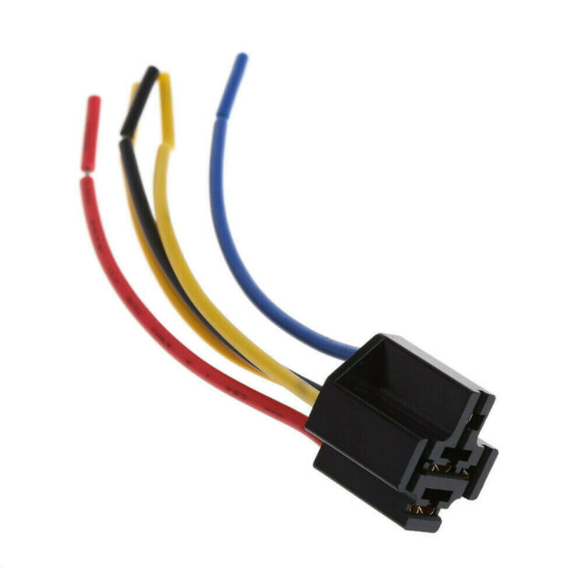 1pcs 5 Pin Cable Relay Socket Harness Connector For Car Ts