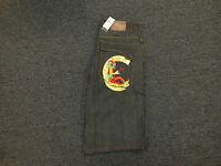Coogi Men's Black Denim Jean Shorts With Tags Jester Design $125 Retail