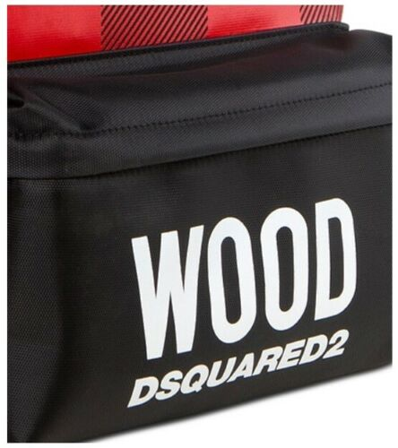 Dsquared2 Black /& Red Backpack Rucksack Style Bag New With Dust Bag