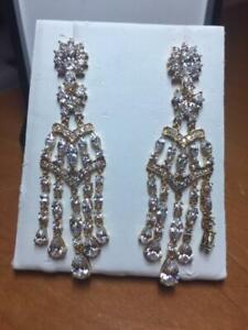 CRISLU-Platinum-over-Sterling-Silver-Cubic-Zirconia-Chandelier-Earrings