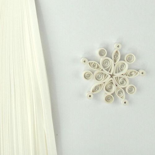 100 découpis autocollante papier Bandes en Flocon de Neige Blanc 5 mm large