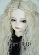 "1/3 8-9""LUTS Pullip SD BJD DD Doll Blythe Dollfie Wig Long Blonde Hair 31"