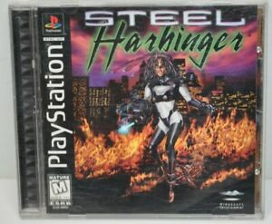 Steel Harbinger (Sony PlayStation 1 PS1, 1996) COMPLETE CIB Tested