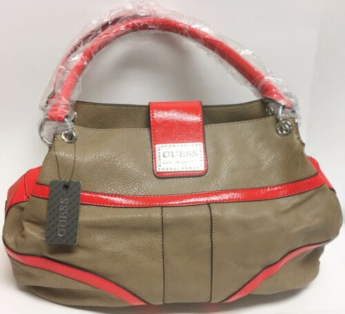 Corail Sac Taupe Kissa Skaï Main New À Pierre Cuir Simili guess Rouge Sac Atzw55qIx