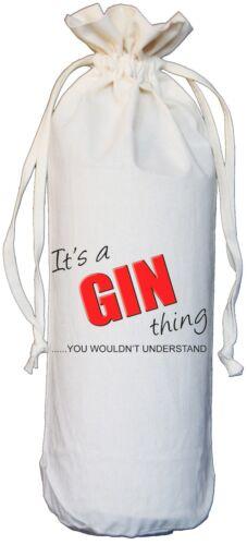 Il est un Gin chose-Vous ne comprendraient pas-natural coton Bouteille Sac crème
