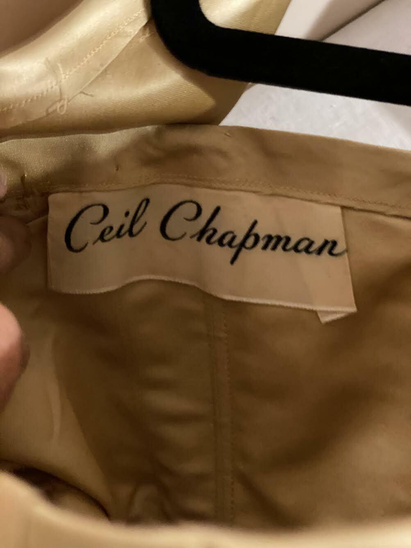 Gorgeous Vintage CEIL CHAPMAN satin dress - image 4