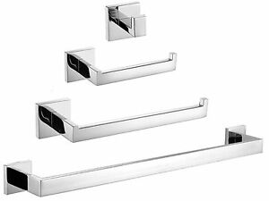 304 Stainless Mirror Chrome Bathroom Wall Mount Set