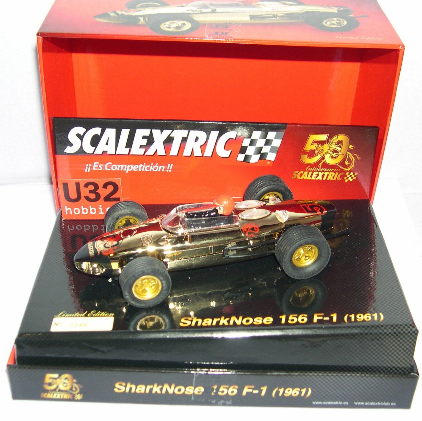 SCALEXTRIC A10106S300 FERRARI 156 SHARKNOSE F1 1961 50 ANNIVERSARY LTED. ED. MB