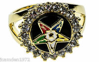 Order Of The Eastern Star 18k Gold Overlay Ladies Ring Size 5