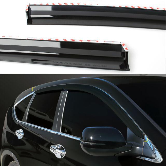 Window Smoked Door Visor Wind Rain Vent 4p for 2012 2016 Honda Accord