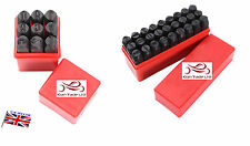 "1/4"" Steel Metal Letter & Number Set Kit Tool Wood Punch Stamp Stamping Case- 36"