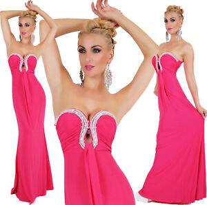 Donna-Elegante-Abito-lungo-Ballo-Sera-Twist-Forma-con-Sexy-Divisione-Abito-UK