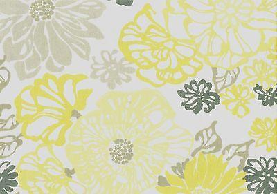 Richloom Fabric Invigodk Canary Off White Gray Gold   Drapery Upholstery