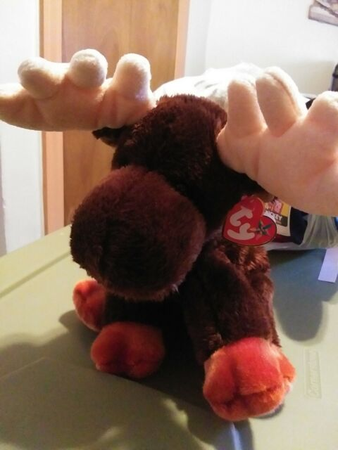 Ty Beanie Baby - ZEUS the Moose  new old stock with tag