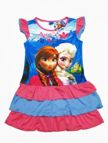 Frozen Girl Polyester Nighty Dress Sleepwear #0328 Blue,Pink Size 4-10 age 3-10