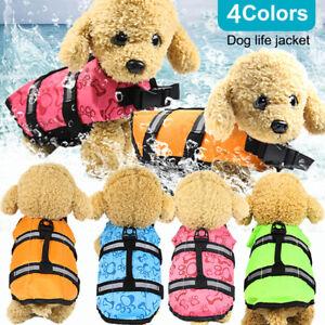 Pet-Dog-Life-Jacket-Summer-Swimming-Reflective-Stripes-Swimsuit-Vest-New