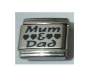 9mm-Italian-Charm-L65-Parents-Mum-and-amp-Dad-Fits-Classic-Size-Bracelet