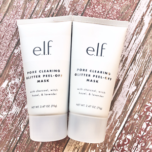 E.L.F Pore Clearing Clear Glitter Peel Off Face Mask 2.47oz Lot of 2 NEW