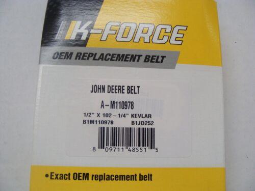 """ARAMID EXACT OEM SPEC BELT JOHN DEERE M110978 1//2/"""" X 102.25/"""" LX176 LX178 LX186"""