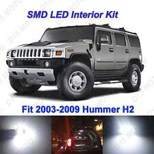 16x Ultra White LED Interior + License Plate Lights Kit for 2003-2009 Hummer H2