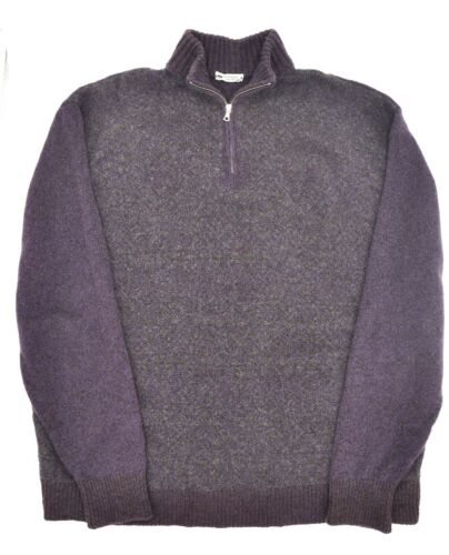 Inis Meain Purple Grey Cashmere Wool Quarter Zip I
