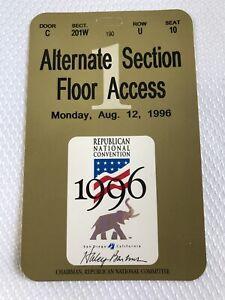Republican National Convention Pass Ticket Signed Haley Barbour Vintage Ephem