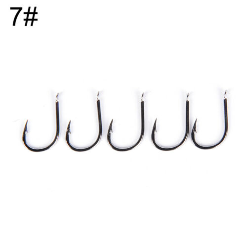 50Pcs Hook Jig Fishing Bait Holder Hooks Black High Carbon Steel Fishhook KW