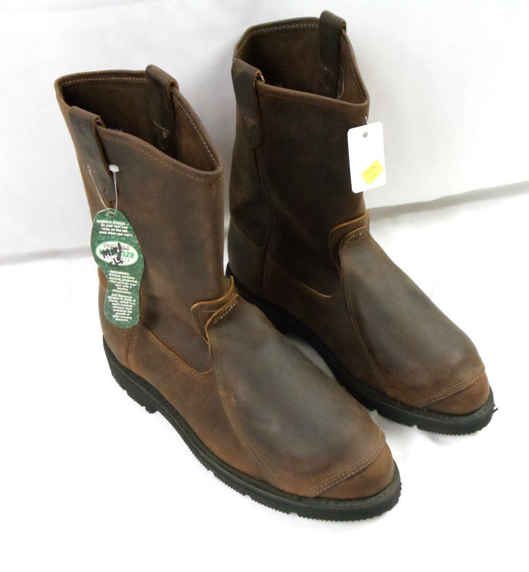 Double H Brown Leather Boots Triad Oil & Heat Resistant MENS SZ 11D
