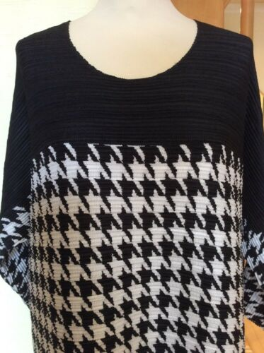 Size Rrp Bnwt White £239 £107 14 Now Pleated Top Black And 4058054426426 Houndstooth Riani 5xnZW11