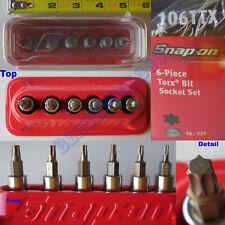 New Snap On 14 Drive Torx Standard Socket 6 Pcs Set 106ttx