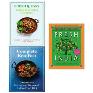 Fresh-India-and-Complete-KetoFast-3-Books-Collection-Set-Fresh-amp-Easy-Indian-NEW
