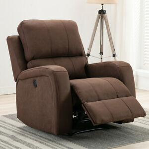 Power-Recliner-Chair-Suede-Sofa-Overstuffed-Padded-Back-Seat-Armrest-w-USB-Port