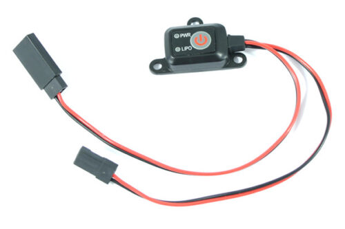 Electronic Power On//Off Switch with LED Battery Monitor and Lipo Cut-Off