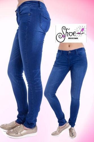 *SALE* Mid High Waist Slim Fit Skinny Jeans Ladies Faded Denim Trouser Size 6-14