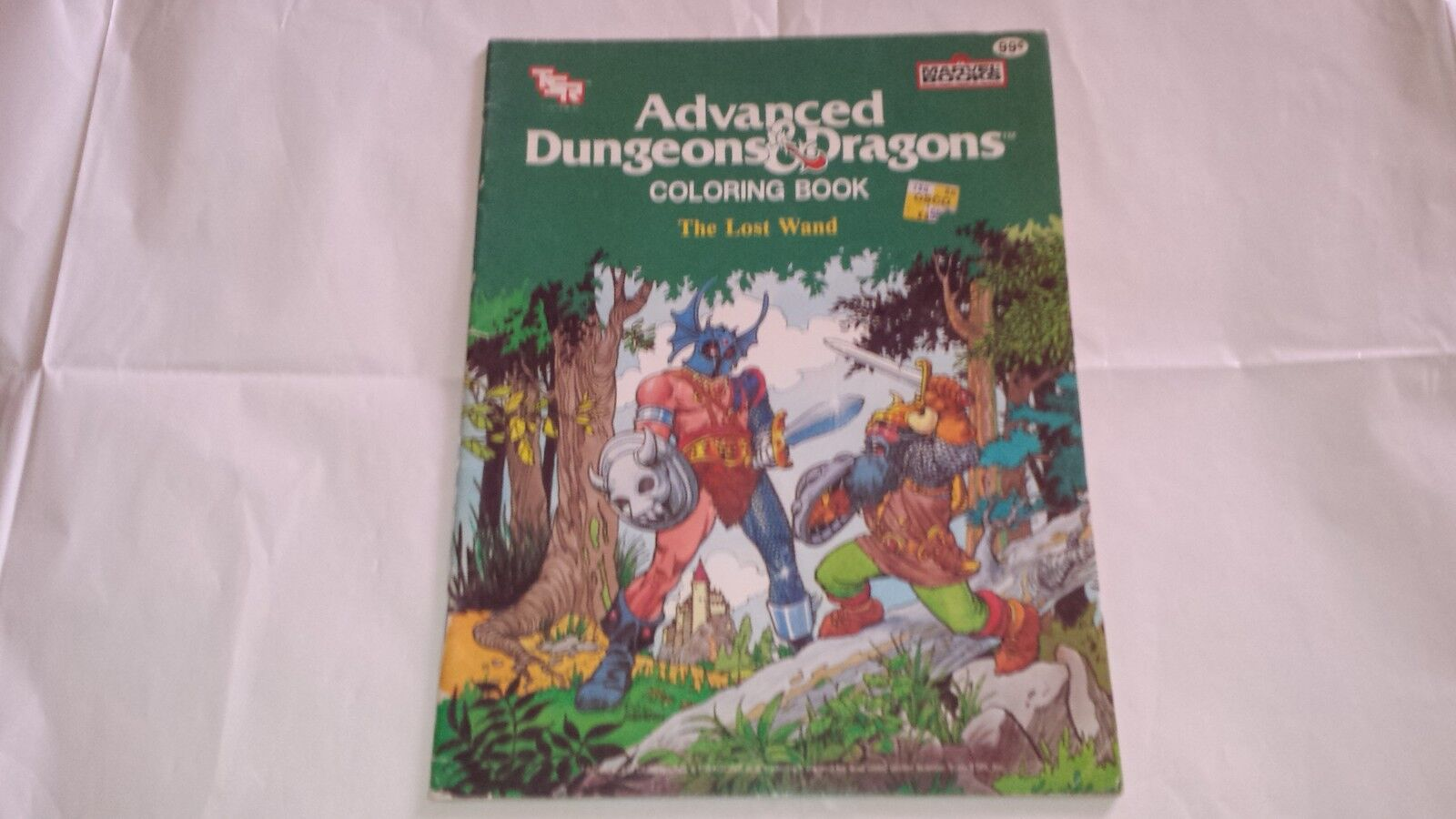 Advanced Dungeons & Dragons Coloring Coloring Coloring Book The Lost Wand TSR AD&D  rare 43dcd3